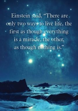 Einstein said that...