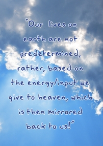 Our lives on earth...
